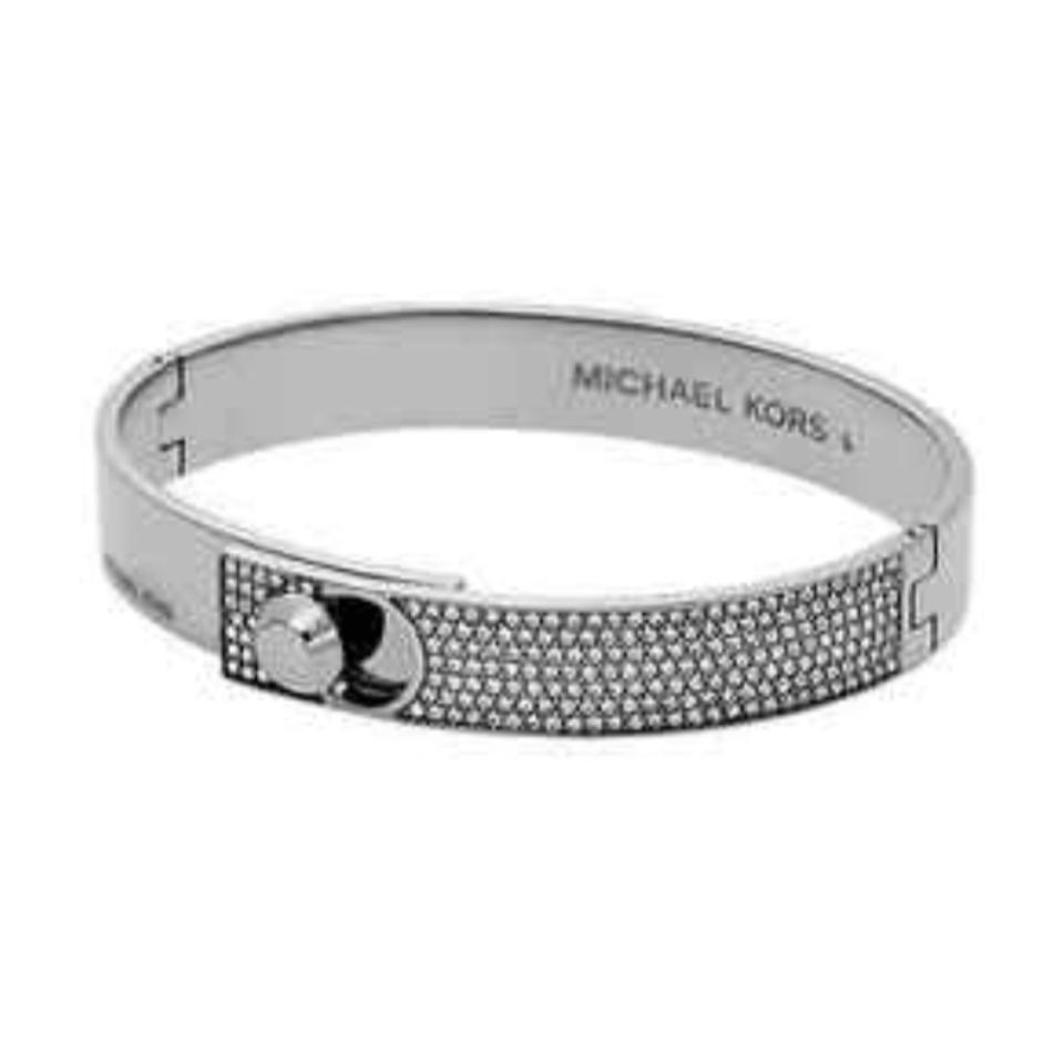 michael kors silver tone astor pave bracelet tradesy. Black Bedroom Furniture Sets. Home Design Ideas