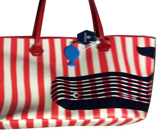 Jonathan Adler Tote in Ray the white blue
