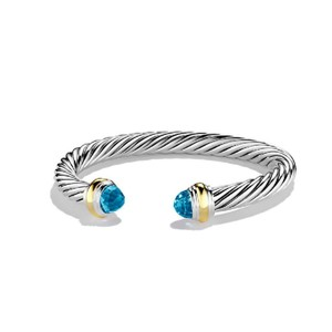 David Yurman David Yurman 7mm Cable Classics Blue Topaz Bracelet