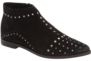 Free People People Aquarian Studded Suede Desert 40 Black Boots