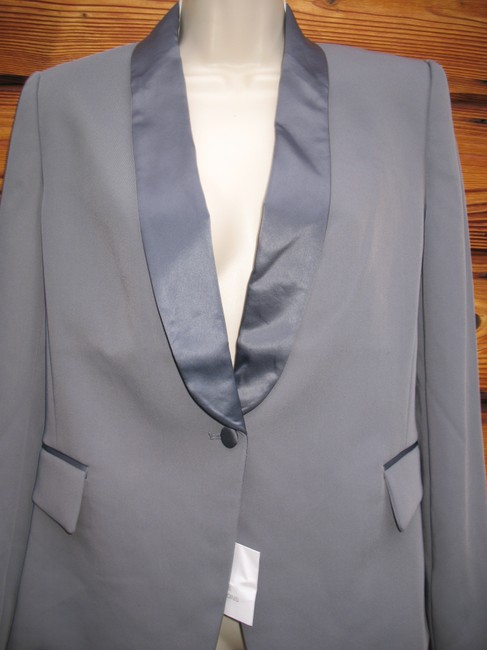 Victoria's Secret Satin Tuxedo Night Out Gray Blazer