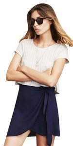Reformation Mini Wrap Mini Skirt Navy