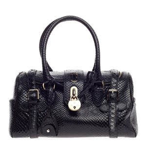 Ralph Lauren Python Satchel in Black