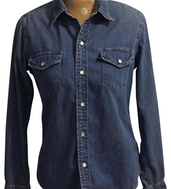 Preload https://img-static.tradesy.com/item/20570555/polo-ralph-lauren-blue-denim-jeans-button-down-top-size-8-m-0-1-650-650.jpg
