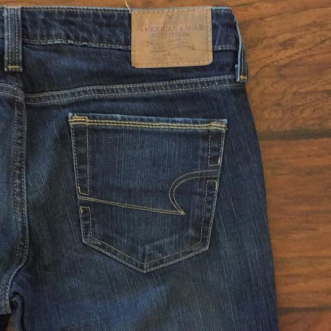 American Eagle Outfitters Straight Leg Jeans-Dark Rinse