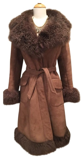 Preload https://item4.tradesy.com/images/brown-shearling-suede-long-fur-coat-size-4-s-20570663-0-1.jpg?width=400&height=650
