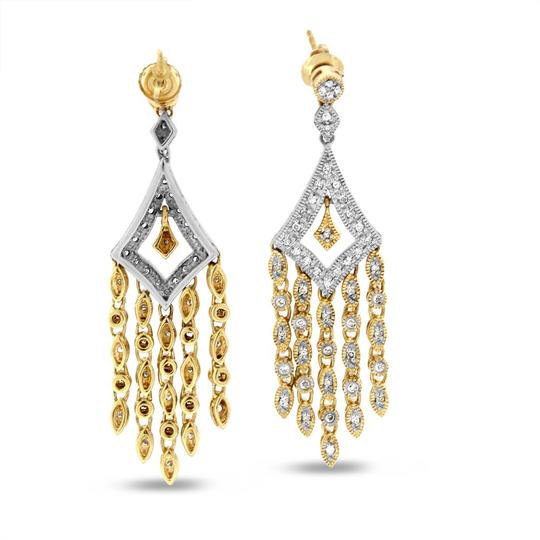 Other 0.40 Carat Natural Diamond Royal Chandelier Earrings in Solid 14k Two