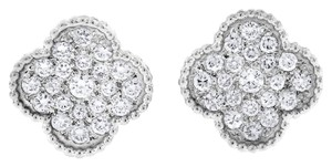 Other 1.10 Carat Natural Diamond Four Leaf Clover Earrings In Solid 14k