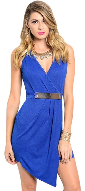 Preload https://item1.tradesy.com/images/royal-blue-sleeveless-v-neck-belted-draped-wrap-asymmetrical-bodycon-mini-short-cocktail-dress-size--20570785-0-1.jpg?width=400&height=650