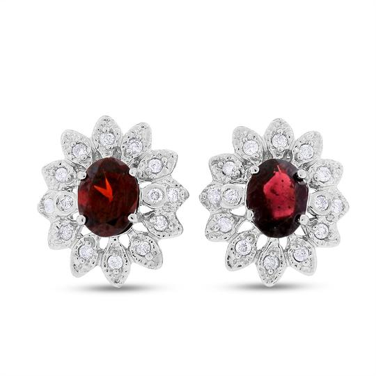 Preload https://item1.tradesy.com/images/250-tcw-natural-diamond-and-garnet-in-solid-14k-white-earrings-20570855-0-0.jpg?width=440&height=440