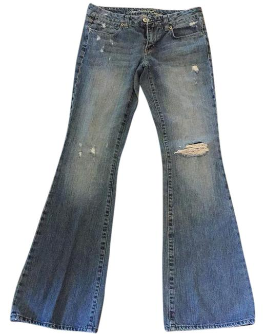 Preload https://item4.tradesy.com/images/american-eagle-outfitters-medium-wash-distressed-flare-leg-jeans-size-29-6-m-20570878-0-1.jpg?width=400&height=650