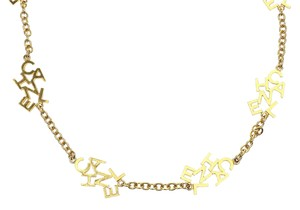 Chanel Chanel Vintage Gold Logo Letter Necklace