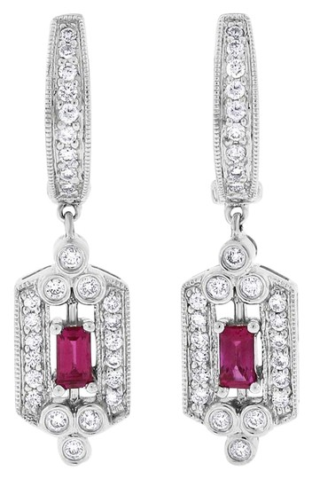 Preload https://img-static.tradesy.com/item/20570908/075-ct-natural-diamond-and-ruby-drop-dangle-in-solid-14k-white-earrings-0-1-540-540.jpg