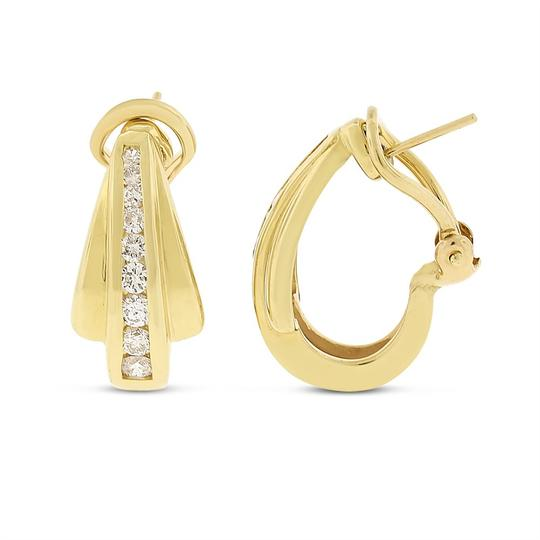 Other 0.75 CT Fashionable Natural Diamonds Huggie Earrings in Solid 14k