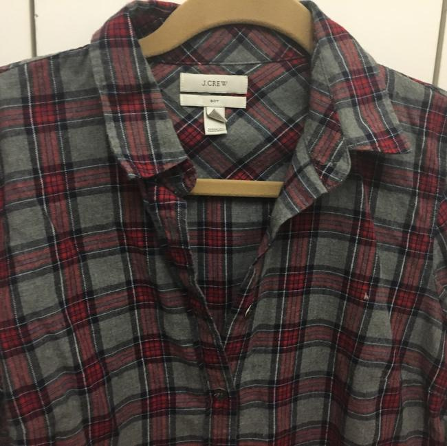 J.Crew Button Down Shirt grey and wine