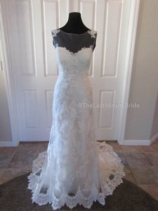 Maggie Sottero Ivory/Pearl Lace & Tulle Jovi Destination Wedding Dress Size 14 (L)