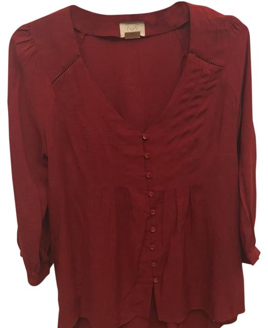 Preload https://img-static.tradesy.com/item/20570980/anthropologie-red-vanessa-virgina-blouse-size-2-xs-0-1-650-650.jpg