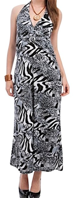 Preload https://img-static.tradesy.com/item/20570992/blackwhitegray-50-off-animal-print-open-halter-long-night-out-dress-size-26-plus-3x-0-1-650-650.jpg