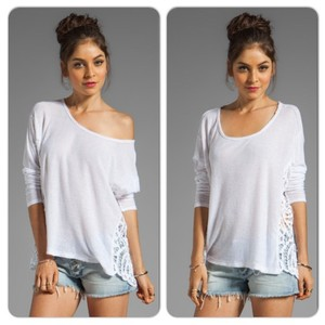 Free People Oversized Top WHITE