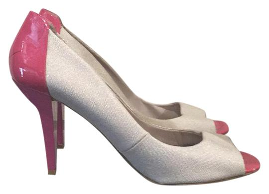 Preload https://item2.tradesy.com/images/nine-west-pink-and-grey-pumps-size-us-85-regular-m-b-20571041-0-1.jpg?width=440&height=440