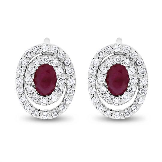 Preload https://item2.tradesy.com/images/105-ct-natural-diamond-and-ruby-double-oval-halo-in-solid-14k-earrings-20571056-0-0.jpg?width=440&height=440