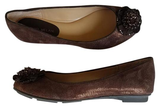 Preload https://img-static.tradesy.com/item/20571098/antonio-melani-brown-new-sparkly-leather-ballet-flats-size-us-65-regular-m-b-0-1-540-540.jpg