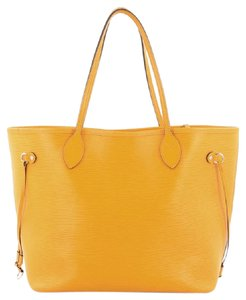 Louis Vuitton Leather Tote in mimosa yellow