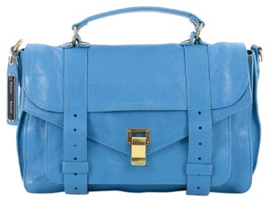 Proenza Schouler Leather Satchel in Blue