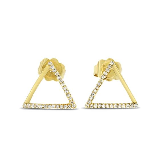 Preload https://item5.tradesy.com/images/020-ct-natural-diamond-triangle-solid-14k-yellow-gold-earrings-20571184-0-1.jpg?width=440&height=440