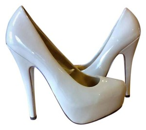 Forever 21 Patent Leather Ivory Platforms