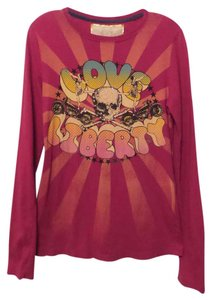 4 Love and Liberty Johnny Was Skull For T-shirt Top Pink + Multi-Color