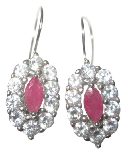 Preload https://item1.tradesy.com/images/pink-silver-white-sterling-cz-and-crystal-oval-dangle-drop-earrings-20571305-0-2.jpg?width=440&height=440