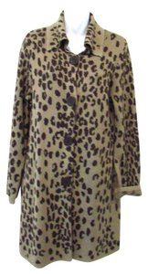 Chico's Leopard Print Wool Blend Cardigan