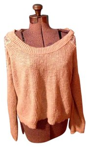 American Rag Lace Cotton Long Sleeves Sweater