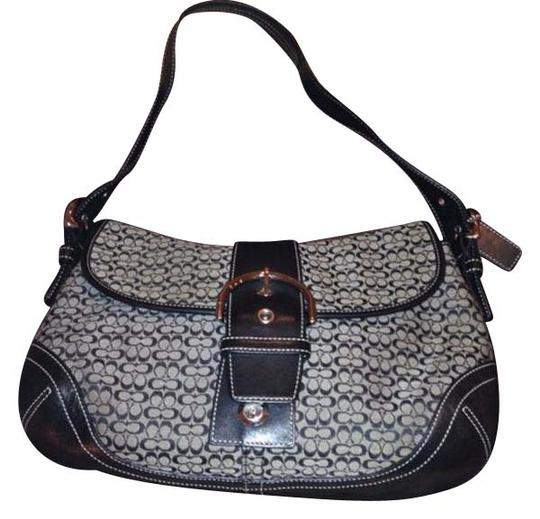 Preload https://item5.tradesy.com/images/coach-black-and-grey-fabric-leather-shoulder-bag-20571359-0-1.jpg?width=440&height=440