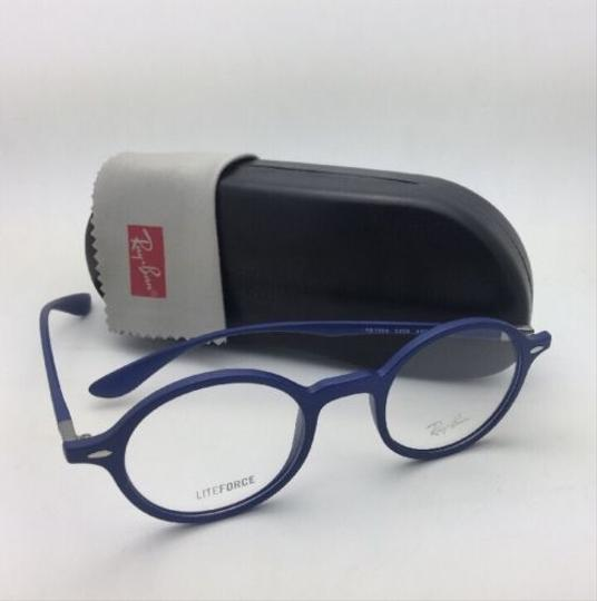 Ray-Ban New RAY-BAN Eyeglasses LITEFORCE RB 7069 5439 46-22 145 Matte Blue