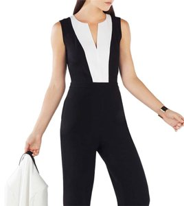 BCBGMAXAZRIA BCBG Genna color blocked open back jumpsuit