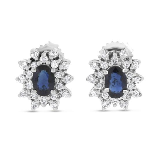 Preload https://item1.tradesy.com/images/170-ct-natural-diamond-and-sapphire-fancy-in-solid-14k-white-earrings-20571410-0-0.jpg?width=440&height=440