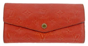 Louis Vuitton Louis Vuitton Monogram Red Leather Sarah Sara Wallet LV M50732