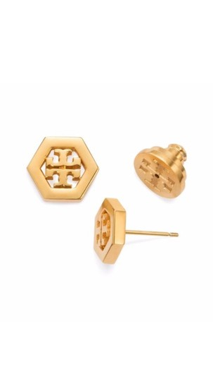 Preload https://img-static.tradesy.com/item/20571432/tory-burch-shiny-gold-stud-logo-hexagon-earrings-0-0-540-540.jpg