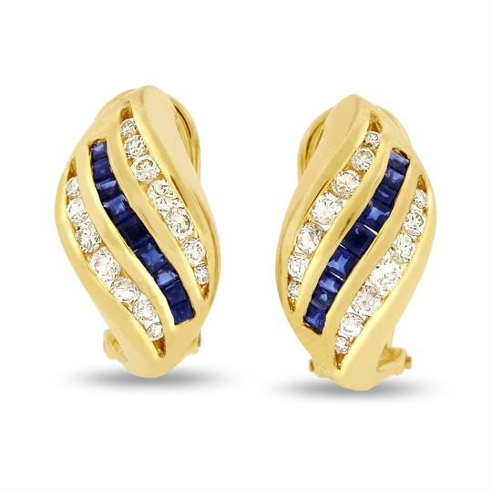 Preload https://img-static.tradesy.com/item/20571433/092-ct-natural-diamond-and-sapphire-twist-in-solid-14k-yellow-earrings-0-0-540-540.jpg