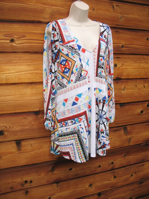 Rubber Ducky Productions, Inc. Print Split Night Out Tunic