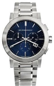 Burberry NEW IN BOX AUTHENTIC BURBERRY CHRONO MEN BLUE DIAL WATCH BU9363