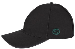 65c5b878ec0 Gucci Gucci Men s 387554 BLACK Canvas GG Green Red Web Baseball Cap Hat S