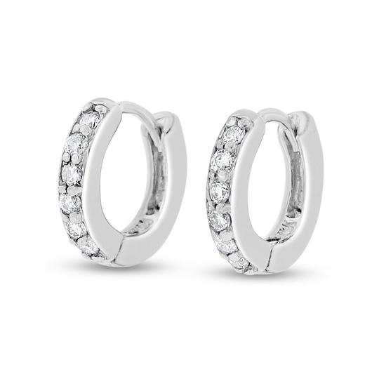 Other 0.20 Ct. Natural Diamond Baby Mini Huggies Hoop Earrings In Solid 14k