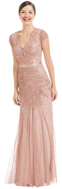 Preload https://item5.tradesy.com/images/adrianna-papell-blush-cap-sleeve-beaded-embellished-gown-long-formal-dress-size-10-m-20571884-0-1.jpg?width=400&height=650