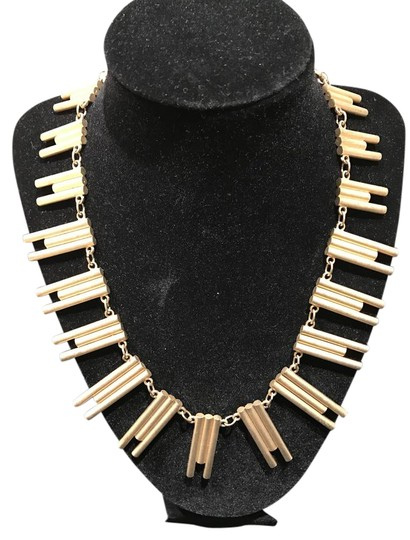 Preload https://item2.tradesy.com/images/harve-benard-gold-tone-mat-finish-unique-abstract-graduated-necklace-20571906-0-3.jpg?width=440&height=440