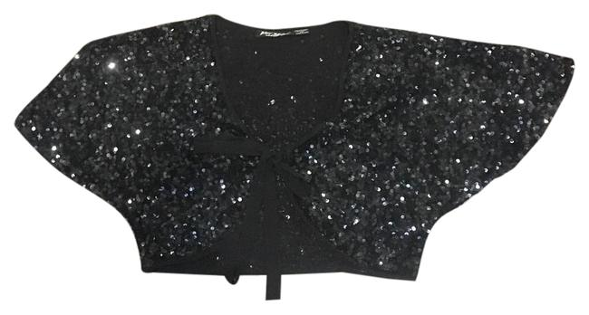 Preload https://img-static.tradesy.com/item/20571907/betsey-johnson-black-cropped-sequined-shawl-cardigan-size-8-m-0-1-650-650.jpg