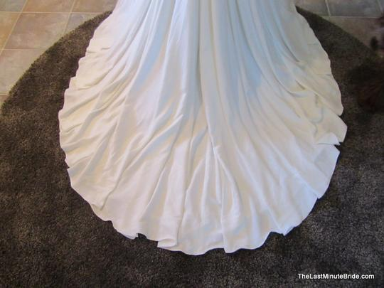 Kenneth Winston Ivory Lace & Chiffon Be210 Destination Wedding Dress Size 8 (M)