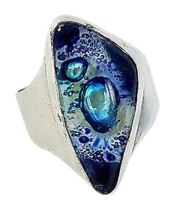 Other Triangle Blue Stone Ring Size 8